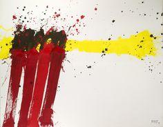 Markus Prachensky | Amanpuri | 1999 | Albertina - Schenkung des Künstlers #AbstractArt #Art #Painting #Colour #Prachensky #Red