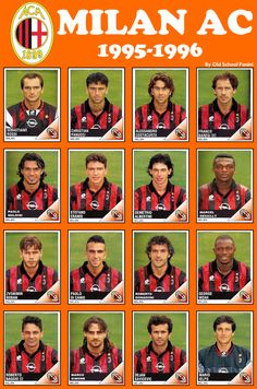 Marcel Desailly and George Weah in the AC Milan team of 1995/1996