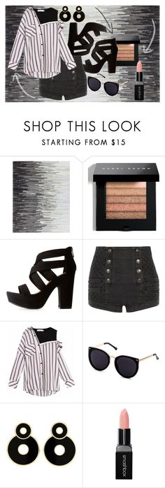 """""""B&W"""" by elza-smith ❤ liked on Polyvore featuring Bobbi Brown Cosmetics, Bamboo, Pierre Balmain and Smashbox"""