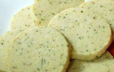 Cinnamon Basil Shortbread Cookies