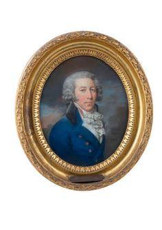 Lot-72 Alexander Pope, Irish Traditions, Blue Coats, White Silk, Gentleman, Father, Auction, British, Pastel