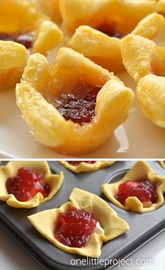 These cranberry brie bites taste SO GOOD and you only need 3 ingredients to make. These cranberry brie bites taste SO GOOD and you only need 3 ingredients to make them! Brie Bites, Best Appetizer Recipes, Yummy Appetizers, Simple Snack Recipes, Cranberry Appetizer Recipes, Party Snacks For Adults Appetizers, Easy Party Snacks, Tropical Appetizers, Party Food Ideas