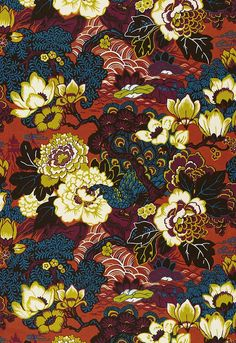 Shanghai Peacock #wallcovering by Schumacher #pattern