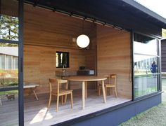 naoto fukasawa embodies his idea of peacefulness in a timber retreat muji hut Green Architecture, Japanese Architecture, Casa Muji, Muji Hut, Wooden Hut, Naoto Fukasawa, Modern Prefab Homes, Japanese Minimalism, Tokyo Design