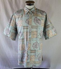 Tori Richard Hawaiian Shirt size XL Floral S/S Button Front made in USA Casual #ToriRichard #Hawaiian
