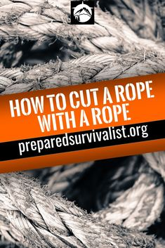 No knife, no problem for this survival hack. if you ever find yourself in a survival situation where you need to cut a rope with out any tools then you can after watching this survival hack video on how to cut a rope with a rope. Survival Food, Outdoor Survival, Survival Knife, Survival Prepping, Emergency Preparedness, Survival Skills, Survival Hacks, Survival Supplies, Survival Stuff
