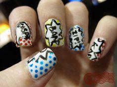comic book nails <3