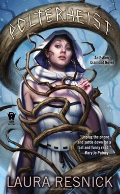Polterheist: Book Five of Esther Diamond (Esther Diamond Novel) by Laura Resnick http://smile.amazon.com/dp/0756407338/ref=cm_sw_r_pi_dp_ZY4yub1V9N63B