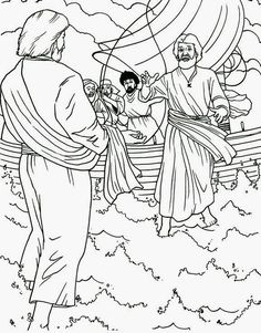 jesus miracles coloring pages  Google Search  Christian Coloring