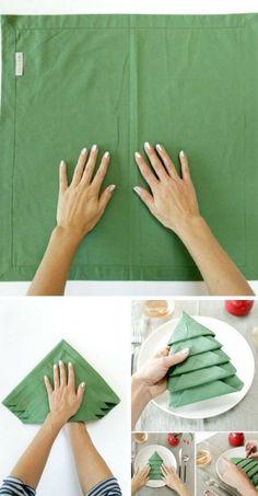 Ce pliage de serviette va épater vos invités à Noël !  http://www.homelisty.com/ce-pliage-de-serviette-va-epater-vos-invites-a-noel/