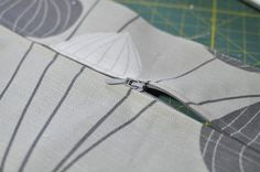 The Seam That Opens: add a zip to your cushion cover