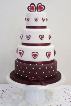 Perfect for a Valentine Wedding. Bakers and Cake Decorators are amazing!