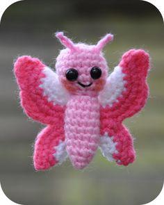 Amigurumi haakpatroon Flo het vlindertje - Amigurumi Flo the Butterfly Crochet Gratis, Crochet Amigurumi, Amigurumi Patterns, Amigurumi Doll, Crochet Toys, Crochet Animals, Love Crochet, Crochet Baby, Knit Crochet
