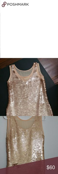 Anthropologie Paper Crown Sequin Casual Dress Stunning Sequined Dress . Dry clean only. Some sequins have swayed (back of dress). Comes from smoke and pet free home. Anthropologie Dresses Midi