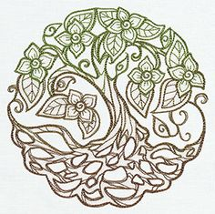 Twisted Tree | Urban Threads: Unique and Awesome Embroidery Designs
