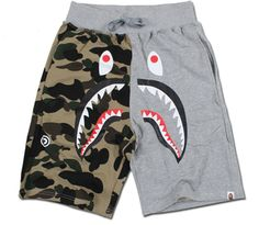A Bathing Ape BAPE Sharks Camo Shorts! Dope Outfits For Guys, Outfits For Teens, Cute Outfits, Streetwear Shorts, Streetwear Fashion, Fashion Wear, Mens Fashion, Hype Clothing, Top Street Style