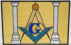 stained glass of the masonic emblem - Google Search