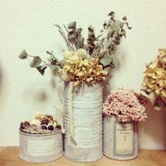 ドライフラワー dryflower リメイク缶|FLEURI blog
