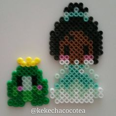Tiana perler beads by kekechacocotea