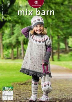 Tunika med cupcake pattern by Lene Holme Samsøe Knitting For Kids, Baby Knitting Patterns, Crochet For Kids, Crochet Baby, Knit Crochet, Norwegian Knitting, Baby Barn, Pet Clothes, Kids Outfits