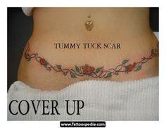 Tummy Tuck Scar Tattoos - Tattoospedia