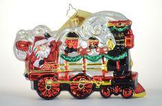 Christopher Radko B O Railroad Train Santa 5 Ornaments Lot Engine Caboose Christmas Candy, Christmas Stuff, Christmas Ornaments, Train Ornament, Christopher Radko Ornaments, Glass Ornaments, Snow Globes, Engineering, Santa