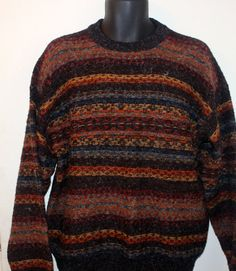 Mens Etchings crewneck Multi-color Sweater Size XL #Etchings #Crewneck