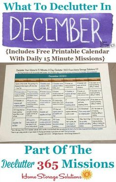 What to declutter in December 2020, including a free printable December decluttering calendar you can follow each day {on Home Storage Solutions 101} #Declutter365 #Decluttering #Declutter