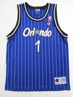 NBA Orlando Magic Penny Hardaway #1 VINTAGE Jersey by Champion,Youth Large 14/16 #Champion #OrlandoMagic