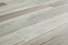 "BASEMENT FLOOR TILE: Salerno Porcelain Tile - Wilderness Series - Gray / 6""x36"""