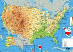 USA Physical Map National Curriculum, Wall Maps, Vinyl Banners, Social Studies, Geography, Physics, Diagram, Website, Usa