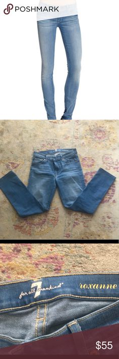 7 for All Man Kind Roxanne Jeans Perfect condition, worn once.  Size 27 7 For All Mankind Jeans Skinny