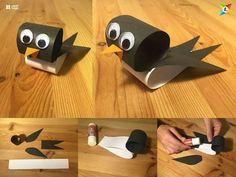 Easy Paper Magic Animal Craft Ideas For Kids Step By Step with Popular Easy Paper Crafts Ideas Easy Paper Magic … Color Paper Crafts, Paper Roll Crafts, Paper Crafts For Kids, Paper Crafting, Bird Crafts, Animal Crafts, Recycled Crafts, Diy Diapers, Paper Magic