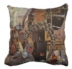 This cushion is hand made in Spain and shows part of the famous story The Little Match Girl by Hans Christian Andersen