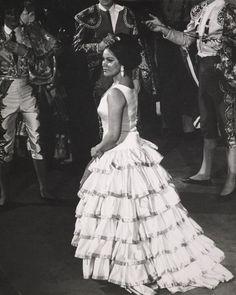 Photograph of Kiri Te Kanawa on stage as Carmen: 1969, gelatin silver prints, documentary photographs, black-and-white prints.