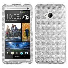 $13.99 and your HTC One would be glorious. Really fabulous, isn't it?  http://www.acetag.com/htc-one-m7-silver-with-full-rhinestones-faceplate-snap-on-hard-cover-case.html