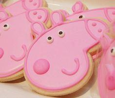 1 dozen Peppa Pig sugar cookies Custom cookies by OneStopSweets