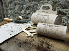 Clever #packaging idea for vegetable patch and herb garden PD