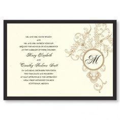 Circle Initial Imprint Wedding Invitations