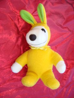 Easter Bunny Rabbit Snoopy Dog Plush Stuffed by ShoppingLounge