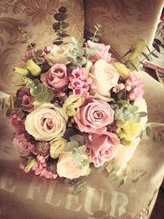 Image result for dusty pink wedding bouquets