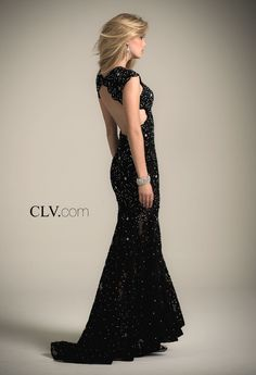 Camille La Vie Long Black Dress for Prom and many parties!