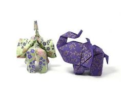 oragami elephants! to hang from the ceiling for a baby's room?