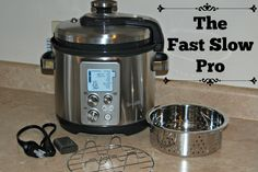 I was introduced to Breville a couple months ago when Petunia my Stand mixer arrived from there we also added Samson The Steam Zone. Since then I have drooling over their various other small appliances. I have a list and have given it to my husband. I mean Christmas and my birthday are coming. My newest addition is a dream and I can not wait to share it with you! The Fast Slow Pro Multicooker  Color changing LCD tells you when the cooker is pressurizing, cooking or releasing steam, 4.5 quart…