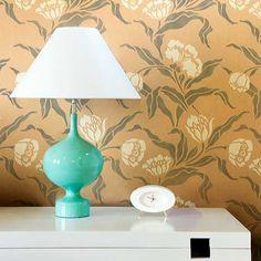 Flower Stencils | Pheobe's Tulip Stencil | Royal Design Studio - for the foyer? different colors.