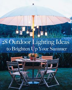 <b>Forget candles.</b> These creative lighting ideas are a cheap and easy way to get your backyard beautiful for summer entertaining.