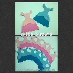 Princess dress cutouts