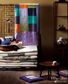 Traditional Korean bedding and furniture
