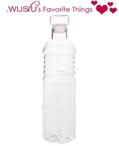 $10.50 {WUSLU's Favorite Things} Glass Water Bottle With Cap ~Enjoy one decor deal a day from WUSLU ~www.wuslu.com
