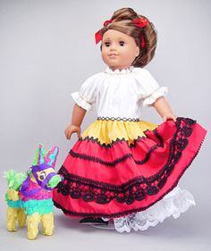 Folklorico outfit. American Girls doll. Joann's superstores have lots of awesome American Girl doll clothes, as an aside.
